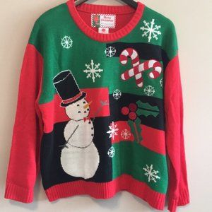 Sweaters - Christmas Snowman Sweater Plus Size XXL Holiday